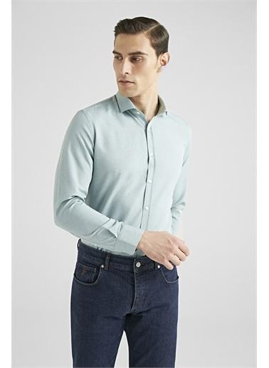TWN Slim Fit Oxford Gömlek Yeşil